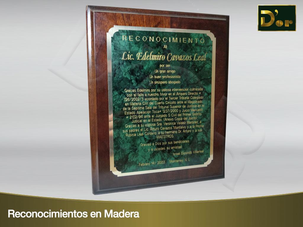 Reconocimientos Madera 2